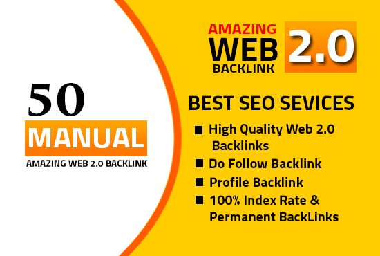 I will do 50 High DA PA web2.0 high Quality permanent DOFOLLOW Backlinks