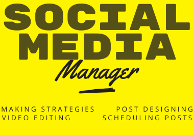 I will be your social media marketing-manager