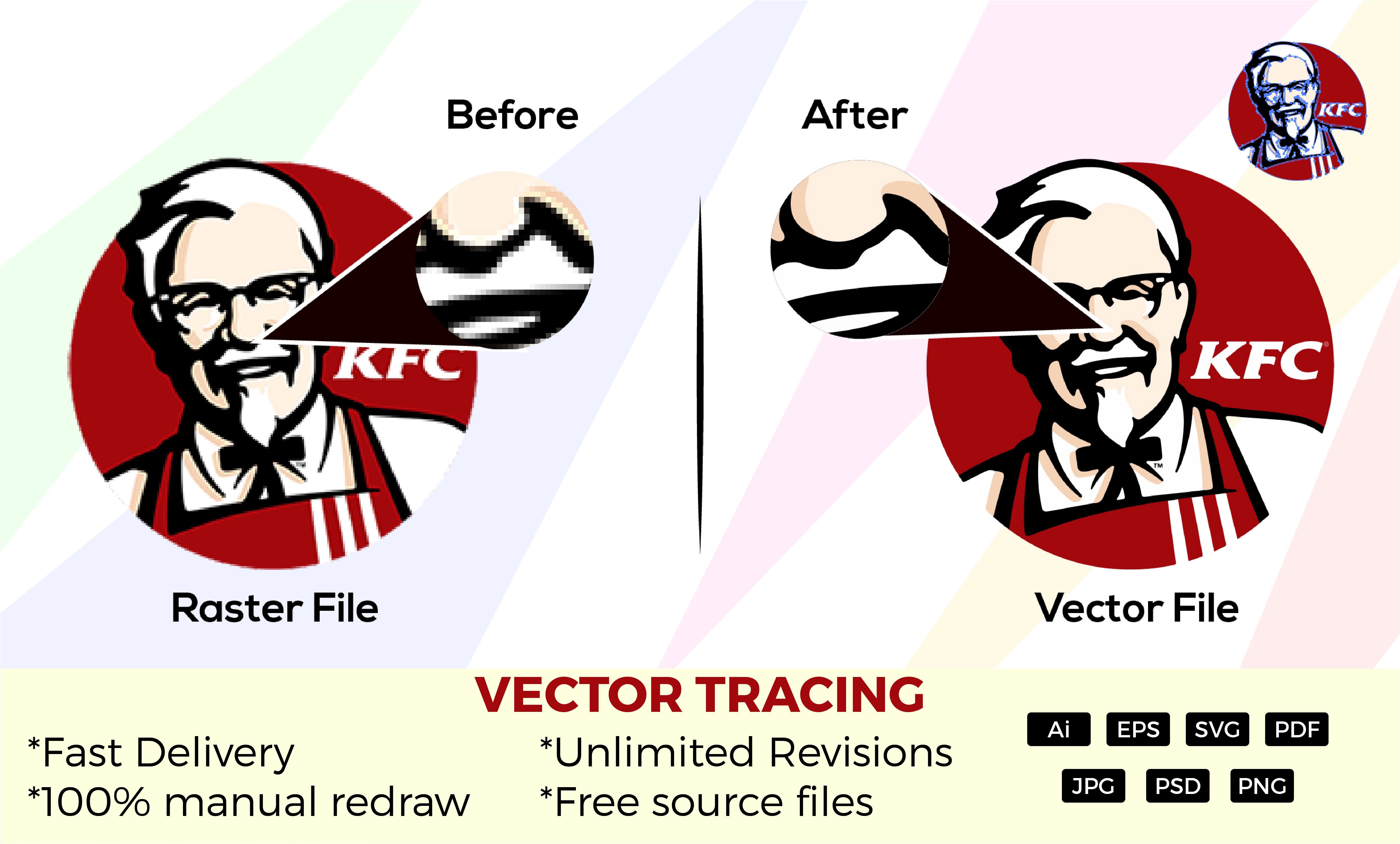 I'll do Vector Tracing,  Redraw,  hand drawing sketch to vector in 12 hours