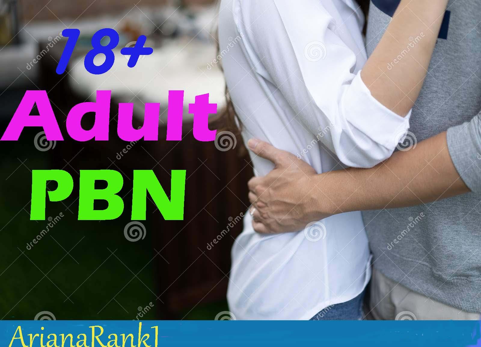 20+ High Permanent DA PA PBN backlinks in Adult niche