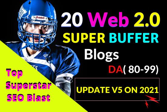 I will build manually 20 web 2 0 backlinks