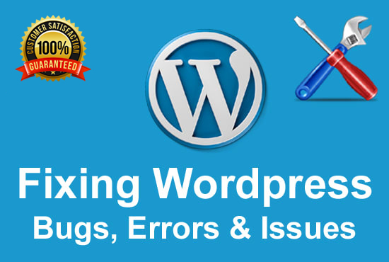 I will fix wordpress errors,  issues and bugs