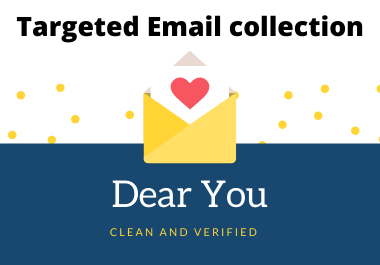 1000 Targeted clean and verified E-mail.