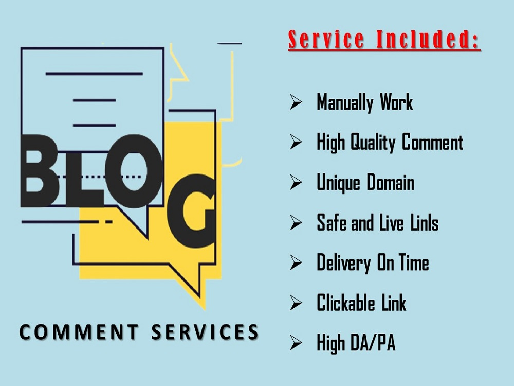 I will provide you 75 manual Dofollow Niche Blog Comment Backlinks