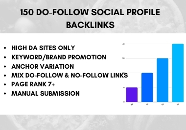 I will create 150 do-follow Social Profile Backlinks