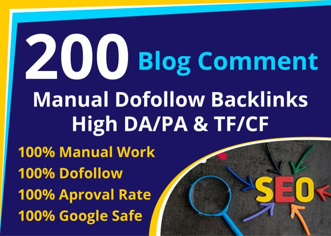 I will do 200 dofollow blog comment backlink high quality