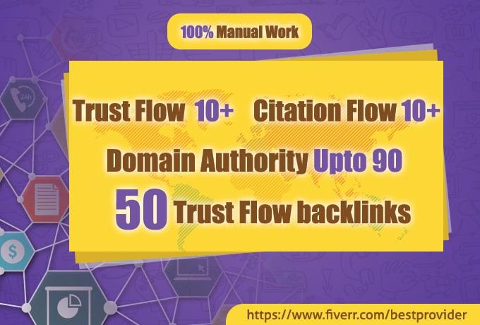 I will do 50 high authority dofollow backlinks