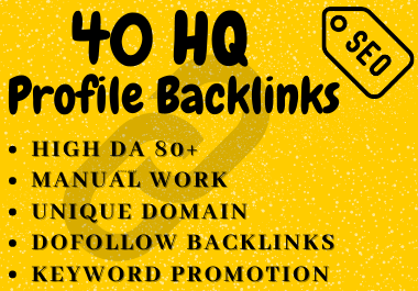 I Will Claim 40 High DA 80+ SEO Profile Backlinks