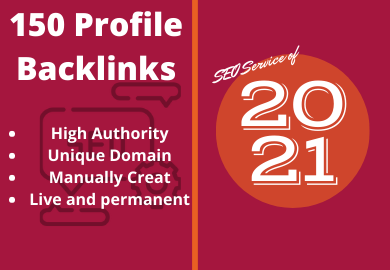 I Will Build 150 High Quality Profile Backlinks
