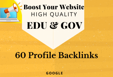 Provide 60 HQ gov edu profile backlinks manually create