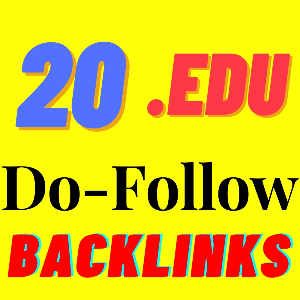 20 EDU Backlinks From Big Universities Manually Created