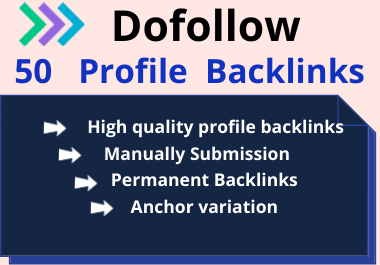 50 High Domain Authority Social Profile Backlinks Manually Create
