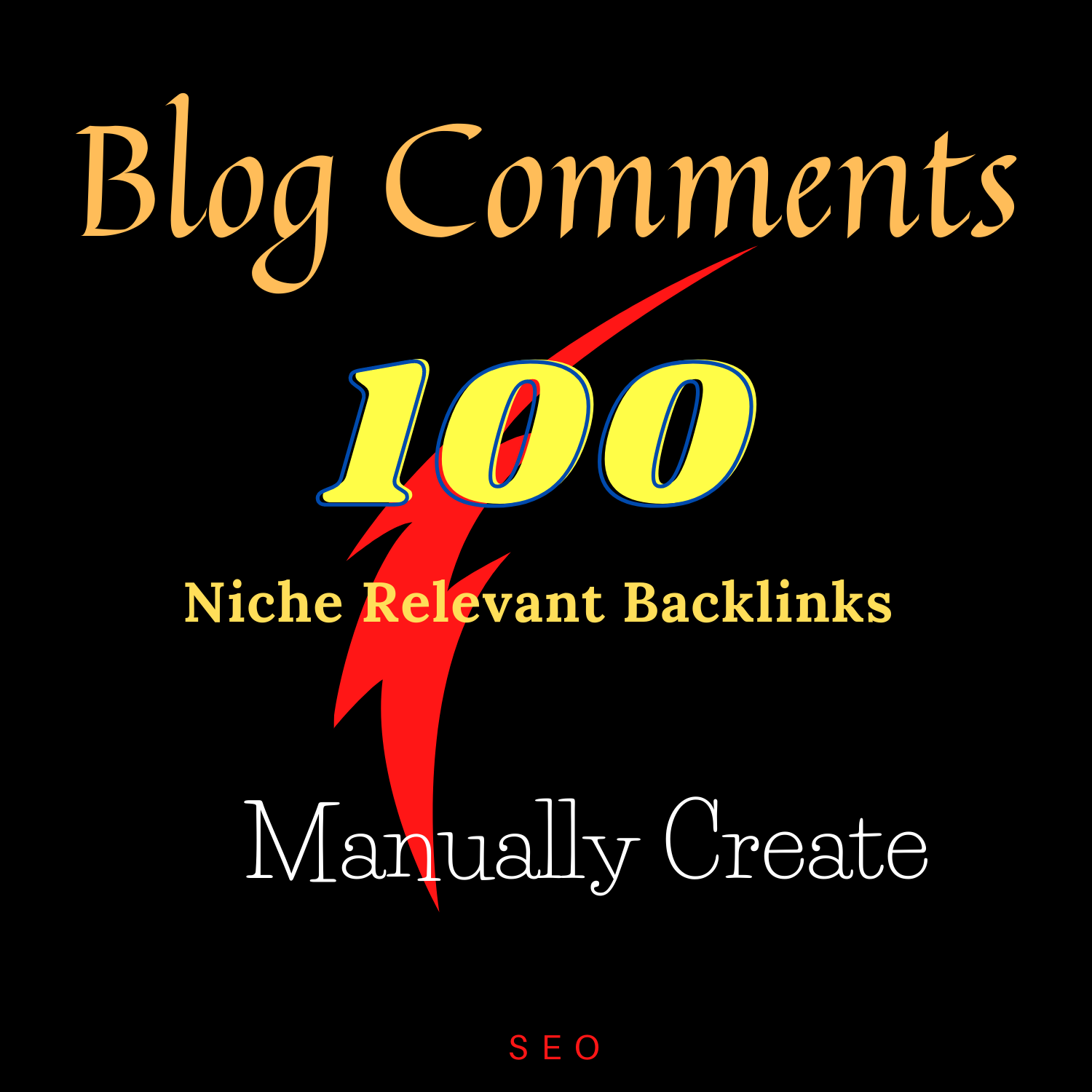 100 blog comments backlinks niche relevant manually create