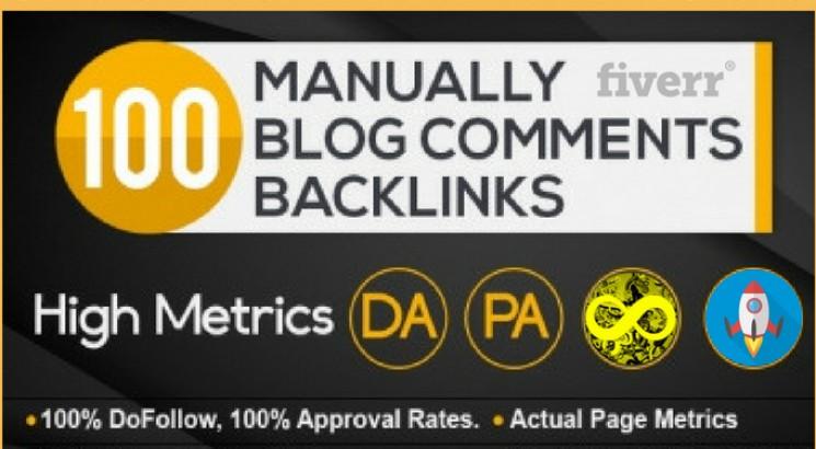 I will skyrocket your websites with 100 High PA/DA TF/CF Blog Comments Link building Backlinks