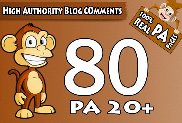 I will skyrocket your websites with 80 High PA/DA TF/CF Blog Comments Link building Backlinks
