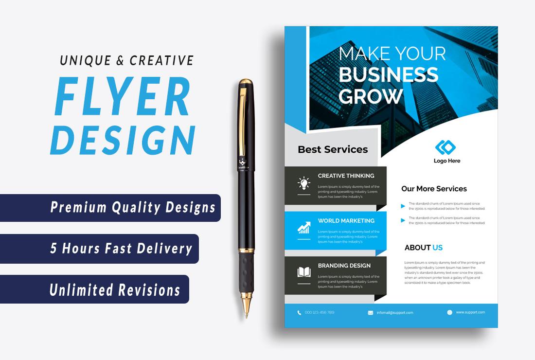 I will do flyer,  booklet design