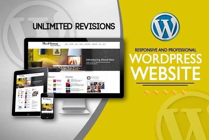 eye catching and responsive wordpress website design
