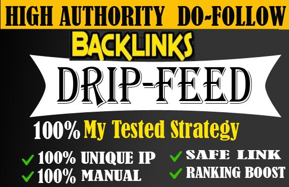 I will create 50 drip feed backlinks white hat seo techniques