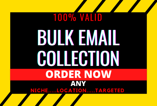 I will collect 5k Niche Targeted BULK EMAIL,  USA Email,  EMAIL BLAST,  CAMPAIGN