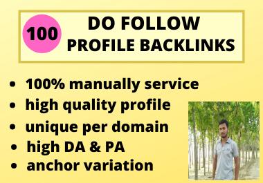 I Will Manually Create High DA 100 Profile Backlinks 2021