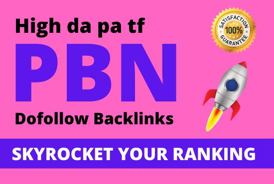 I will build 50 high da pa tf pbn backlinks,  Dofollow homepage links