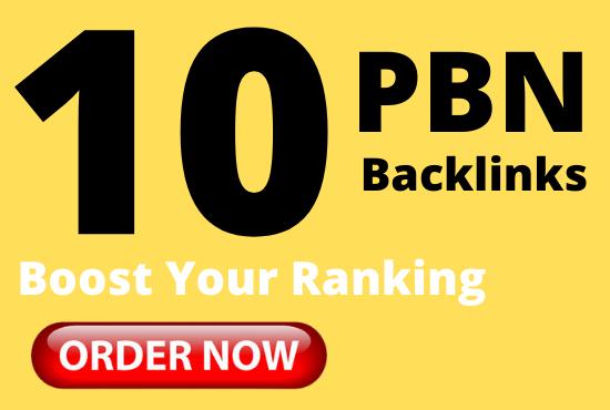 Get 10 pbn backlinks from high DA permanent dofollow links