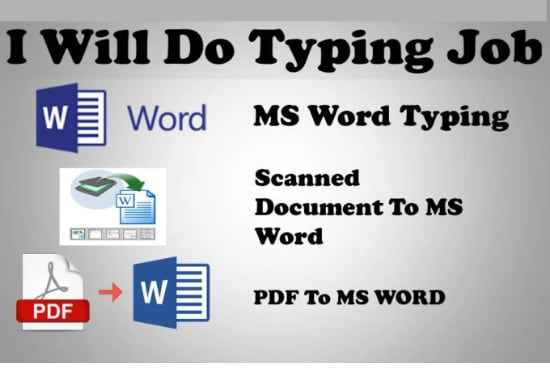 I will type and format microsoft word document for you