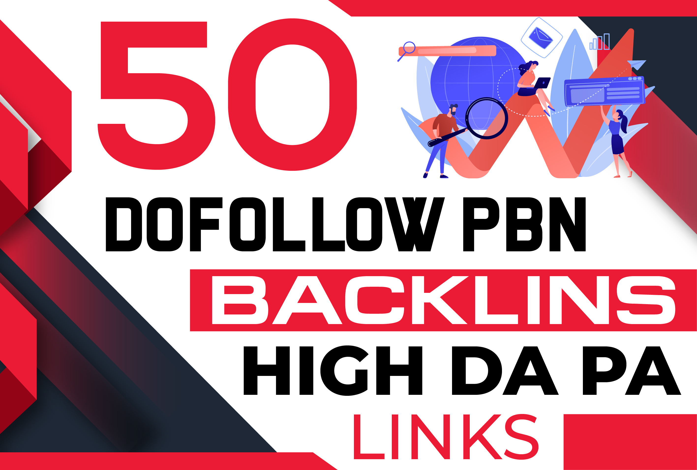Build 50 PBN DoFollow backlinks for off page SEO