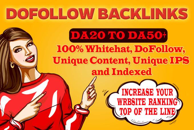 Get DA20 to DA50 plus backlinks
