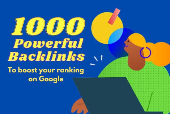 I will create 1000 powerful backlinks on high tf cf