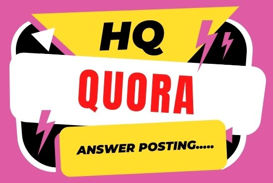 I will supply 3 High quality quora answers with backlink for your website