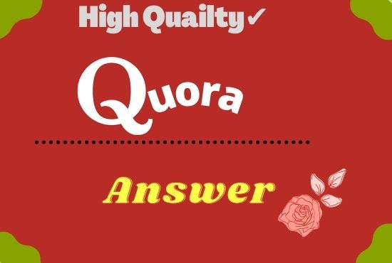 I will promote your website 10 High Quailty Quora answers with your keyword and url
