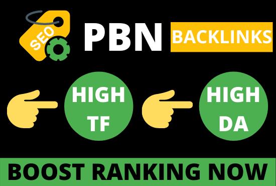 create 10 pbn backlinks from high tf da websites for boost ranking