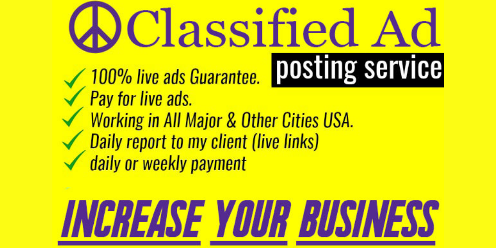 I will do classified ad posting in top sites
