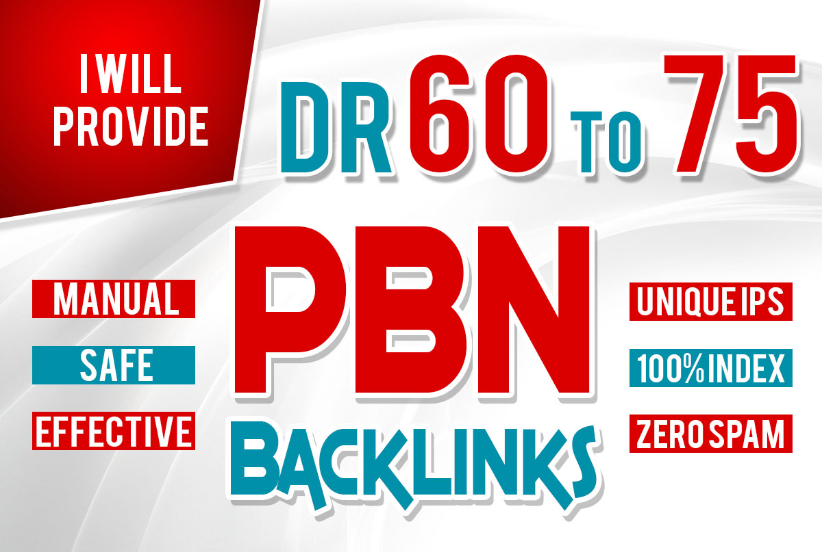 Get 18 Homepage PBN Backlinks from High DR 50+ websites