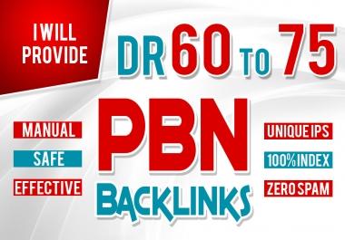 Get 3 Homepage PBN Backlinks from High DR 50+ websites