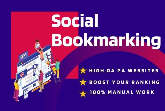 I will create 30 High Quality Social Bookmarking Seo Backlinks