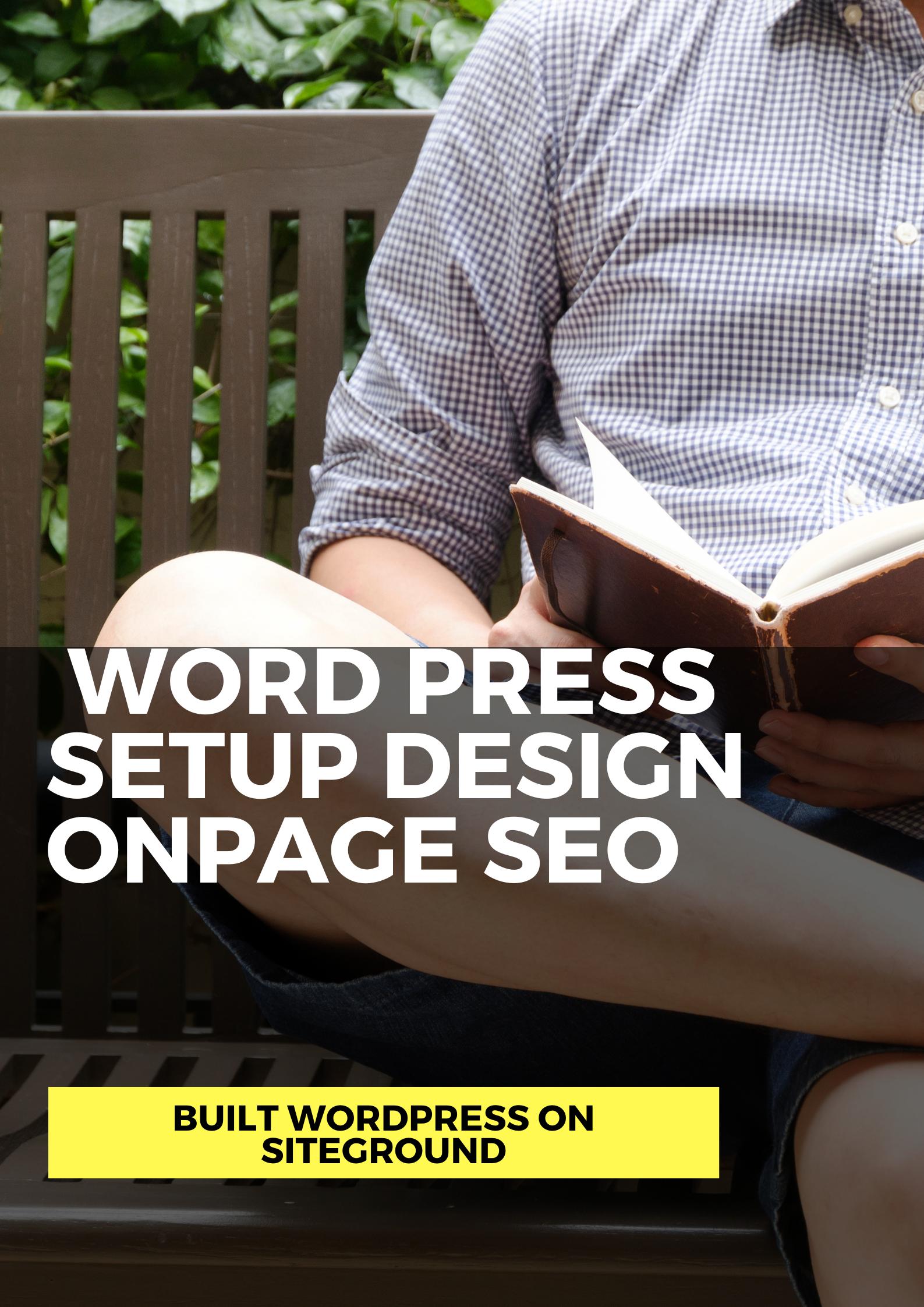 Design, setup and onpage seo wordpress