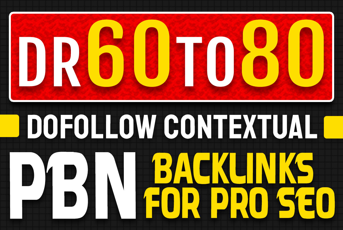 I will 10 PBN DR 60 TO 80 Permanent HomePage high quality PBN Dofollow Backlinks