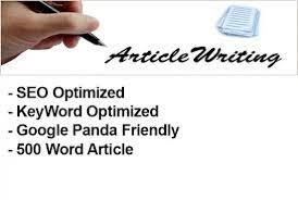i will write 500 words unique seo optimised article on any topic for your blog