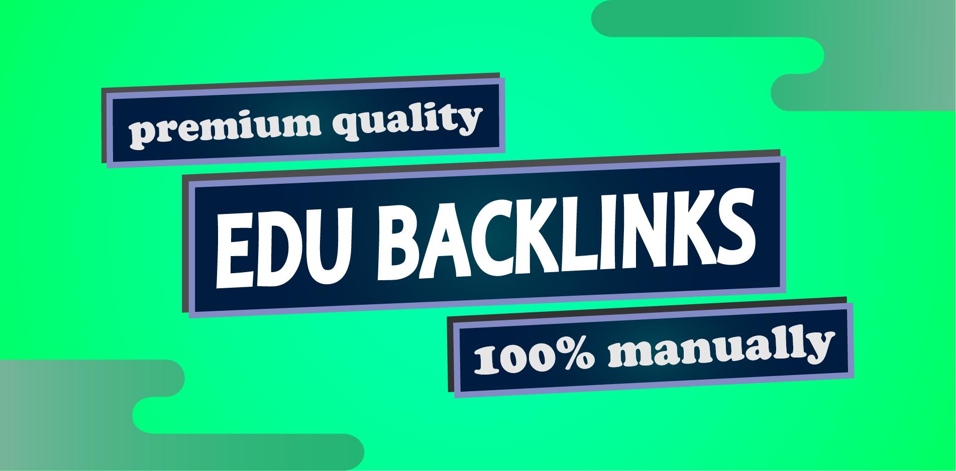 10 edu backlinks build manually on high DA site