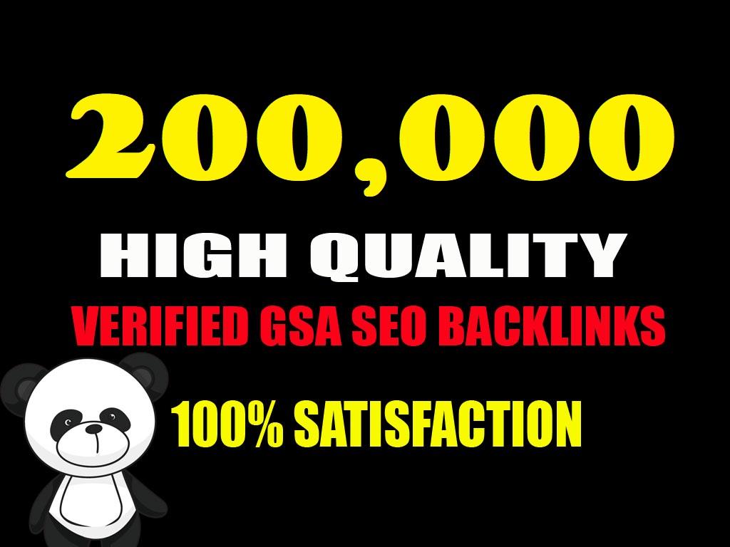 provide 200K GSA ser Backlinks for link Juice,  Ultimate SEO