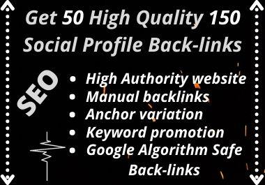 Manually Create 150 Social Media Profiles Backlinks