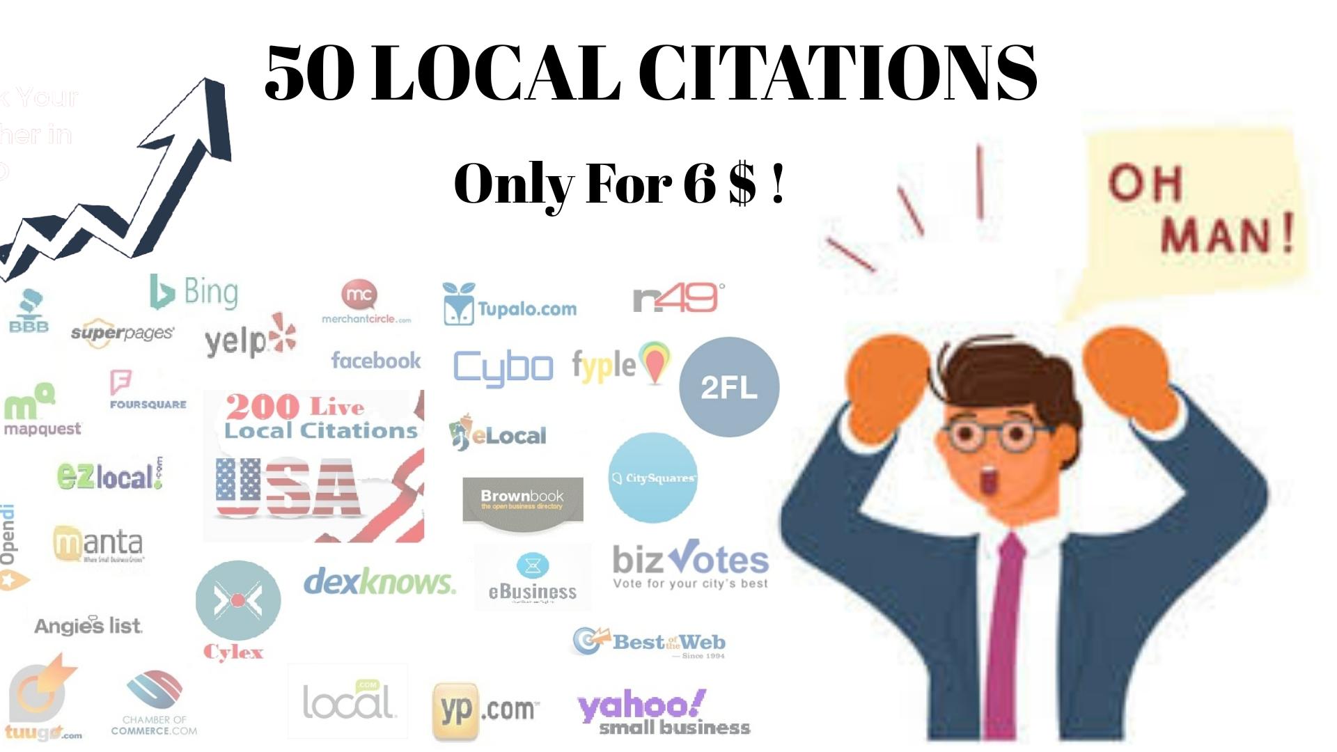 I will do 50 USA/UK/Australia/Canada Local Citations or Local SEO Business Listings.