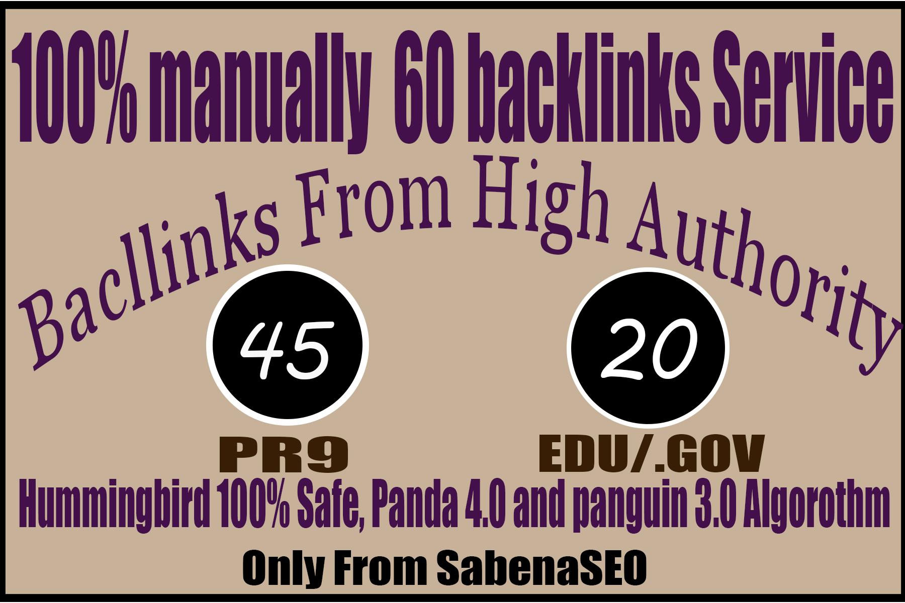 I will manually do 40 PR9 + 20 EDU/GOV SEO High PR Backlinks 2021 Best