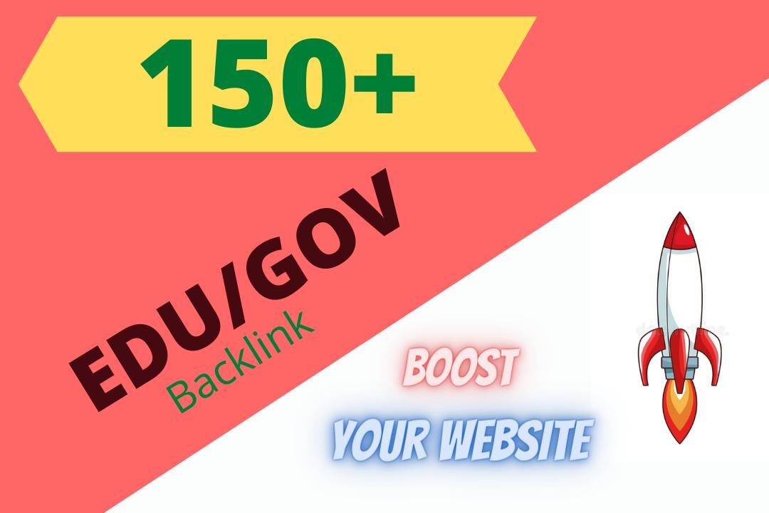 I will create 150+ HQ EDU/GOV Backlinks for boost your website