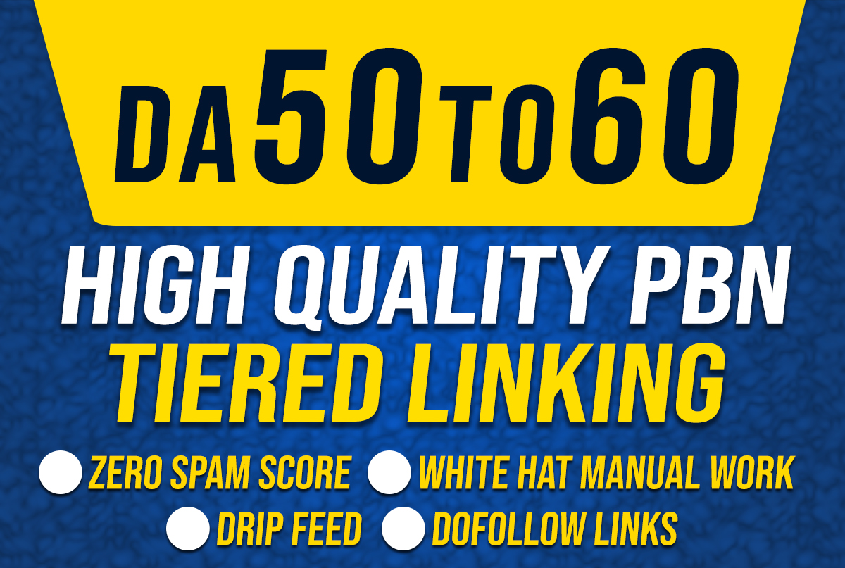 I will create 50 seo dofollow high da backlinks with tier link building
