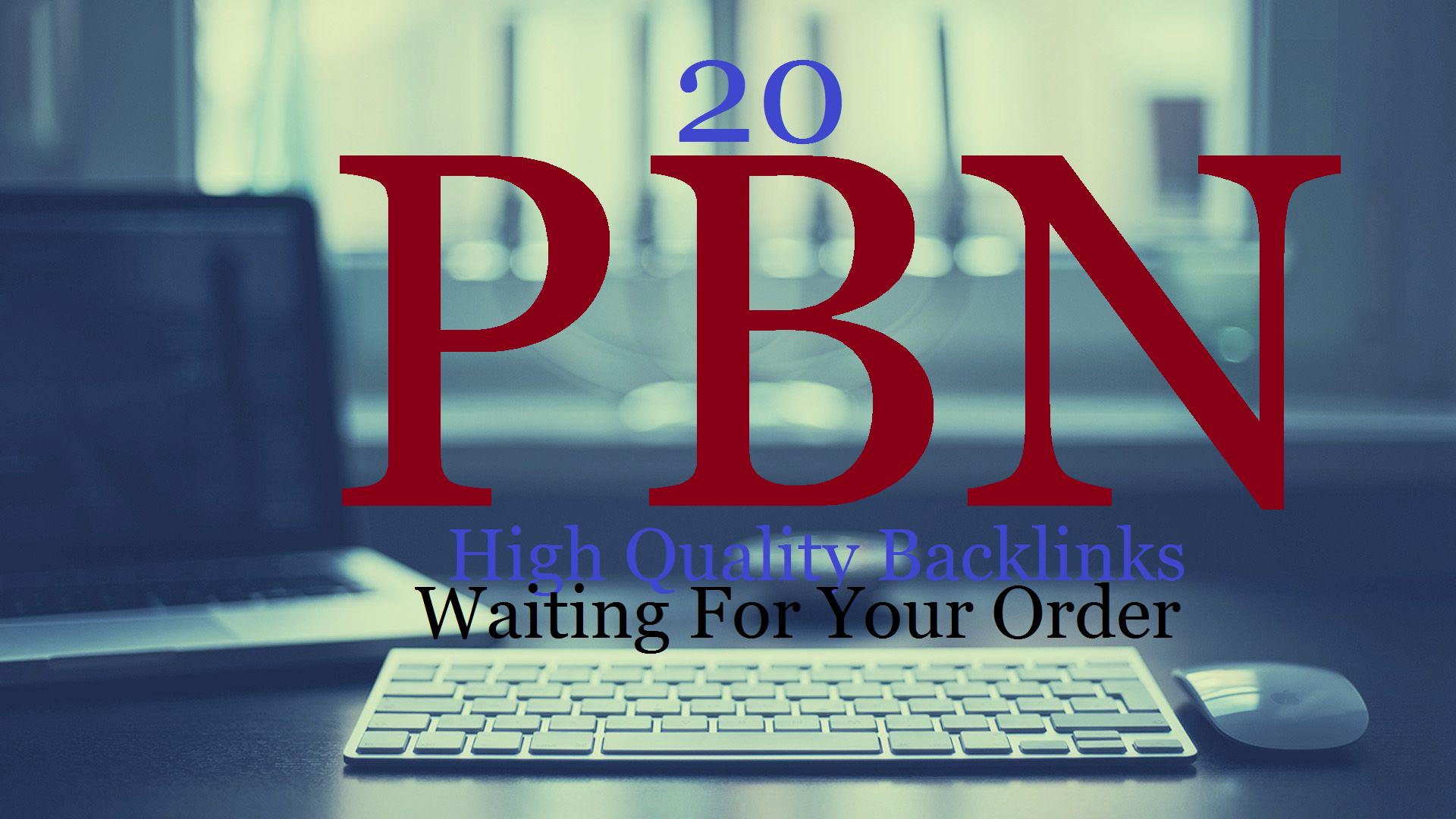 Get Real 20 PBN DA/PA 40/Plus PBNs Dofollow Permanent Backlink