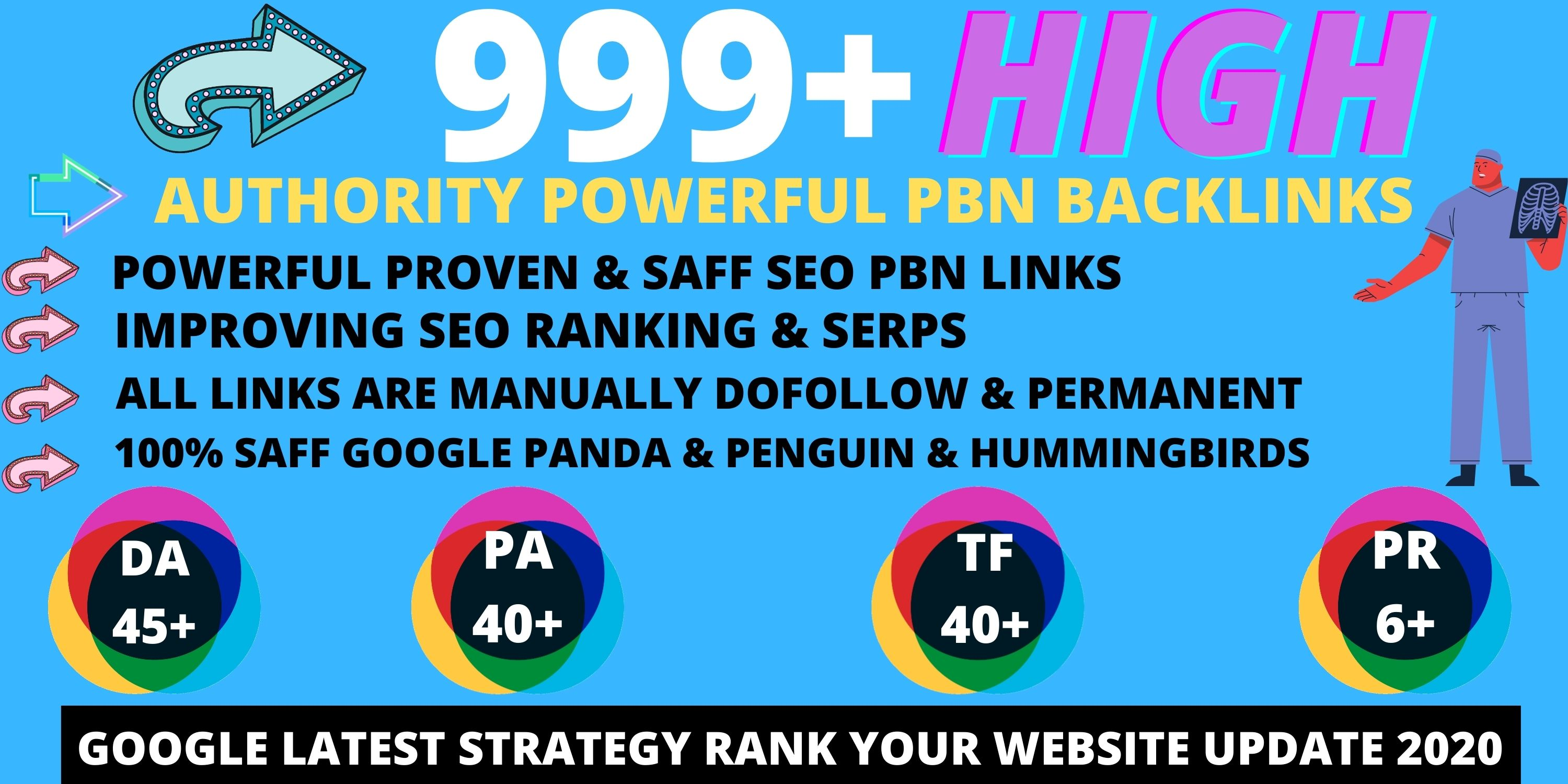 BUY 1 GET 1 Absolutely 999+PBN Backlink in your website with HIGH DA/PA/TF/CF with unique website