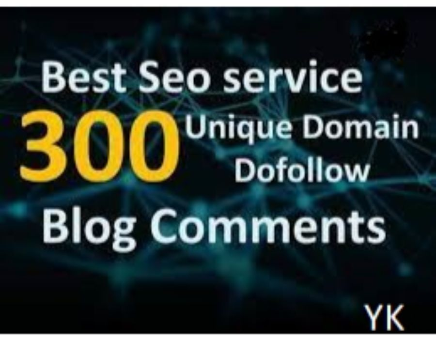 I will do 300 unique domain blog comment dofollow High DA PA backlinks for 5